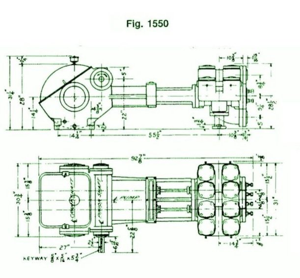 1550, Duplex, Piston Pump (Mud Pump)
