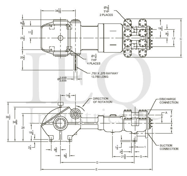 1757, Duplex, Piston Pump (Mud Pump)