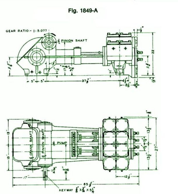 1848, Duplex, Piston Pump (Mud Pump)