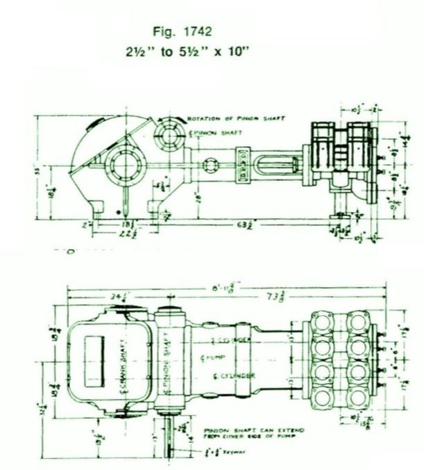 1742, Duplex, Piston Pump (Mud Pump)